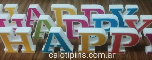 Letras Decorativas Happy Letters x 2 unidades